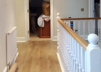 Dulux and Farrow & Ball painted upstairs landing