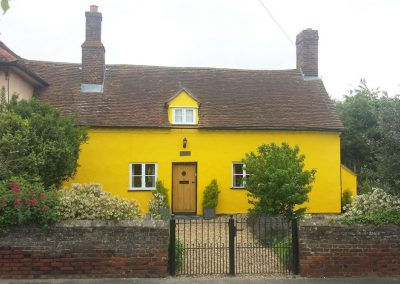 External painting of a listed property in Newton Green, Suffolk