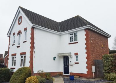 External painting of a modern property in Sudbury, Suffolk
