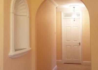 Interior hallway redecoration