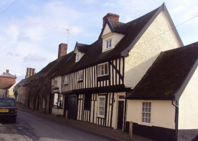 Listed property exterior painting, Woolpit, Suffolk
