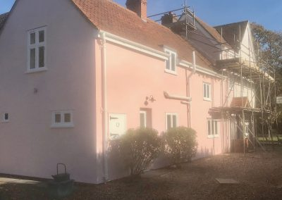 Painting exterior of listed property, Gt Horkesley