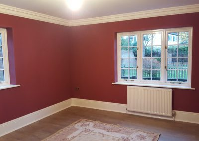Three coats of emulsion on all walls & ceilings