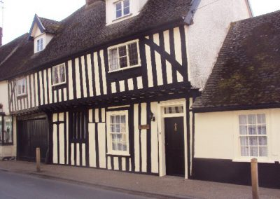 Timber framed period property painting, Woolpit, Suffolk
