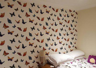 Wallpapering a bedroom, Sudbury